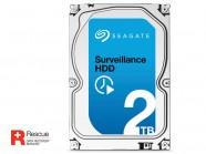 Hdd 3,5 Seguranca Vigilancia Seagate Surveillance 2 Tb 7200Rpm 64Mb 24X7 Sata 6Gb/S + Rescue