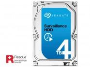 Hdd 3,5 Seguranca Vigilancia Seagate Surveillance 4Tera 5900Rpm 64Mb 24X7 6G/S + Rescue