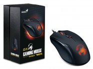 Mouse Gamer Genius Rs Ammox X1-400 Optical 4 Botoes 400-3200 Dpi
