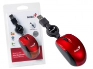 Mouse Genius Micro Traveler Verm Usb Com Cabo Retratil 1200 Dpi