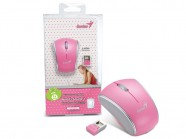 Mouse Wireless Genius Micro Traveler 900S Rosa 2.4Ghz 1200Dpi Stick N Go