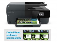 Multifuncional Jato De Tinta Color Hp Combo Duplex/Imp/Copia/Digit/Fax/Wifi+3 Cartuchos Pretos