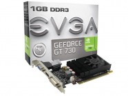Placa de Video EVGA GT Mainstream NVIDIA GT 730 1GB DDR3 128 bit 1400mhz 700mhz