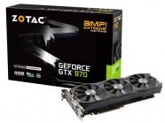 Placa de Video Gtx 970 Amp Extreme Core Edition 4Gb Ddr5 256 Bit 7200Mhz 1228Mhz Cuda Cores Dvi Hdmi