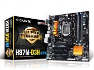 Placa Mãe Gigabyte LGA 1150 Serie 9 Matx Ddr3 1600Mhz Chipset H97 Raid Crossfire 4K Hdmi