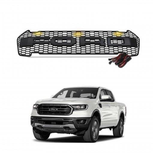 Grade Frontal Modelo Raptor Com LED Ford Ranger