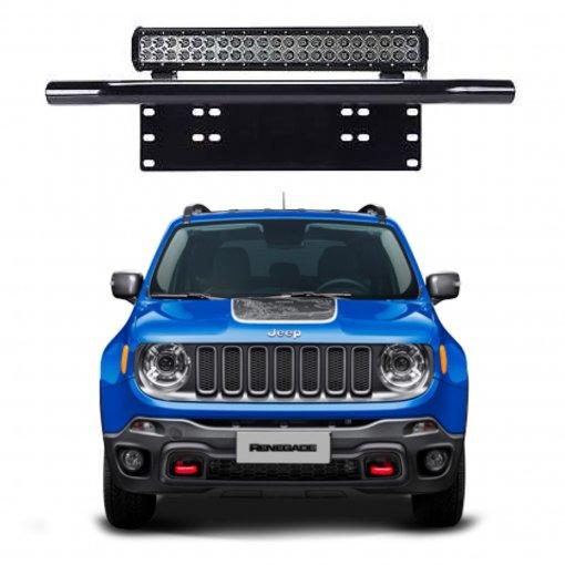 Suporte para Farol Placa Frontal Tubular Jeep Renegade