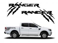 Imagem - Adesivo Lateral Monster Preto Ford Ranger