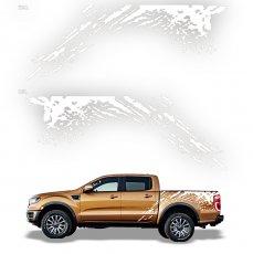 Imagem - Adesivo Lateral Branco Ford Ranger Raptor cód: ADE.25.132.BR