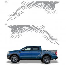 Imagem - Adesivo Lateral Cinza Ford Ranger Raptor