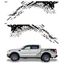 Imagem - Adesivo Lateral Preto Ford Ranger Raptor  cód: ADE.25.132.PT