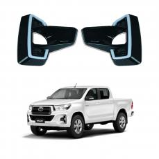 Imagem - Aplique Moldura do Farol de Milha com Led DRL para Toyota Hilux cód: APL.458.396.PT