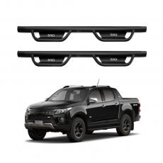 Imagem - Estribo Lateral em Aço Modelo TX para Chevrolet S10 cód: EST.06.059.PT