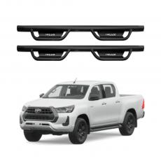 Imagem - Estribo Lateral em Aço Modelo TX para Toyota Hilux cód: EST.06.356.PT
