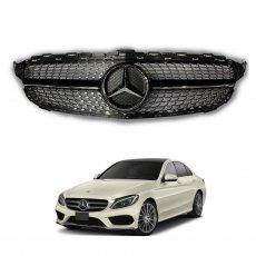 Imagem - Grade Frontal Para Mercedes Classe C Diamond Style Carroceria W205 cód: GRD.286.251.PT