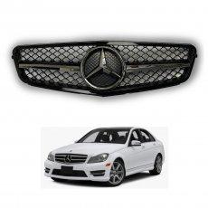 Imagem - Grade Frontal Para Mercedes Classe C Modelo AMG Carroceria W204 cód: GRD.285.250.CRM