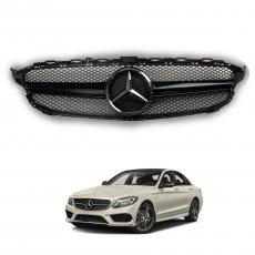 Imagem - Grade Frontal Para Mercedes Classe C Modelo AMG Carroceria W205 cód: GRD.285.251.PT