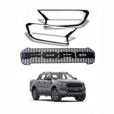 Imagem - Kit Grade Frontal e Aplique moldura de Farol em Led Ford Ranger Raptor  cód: 3930