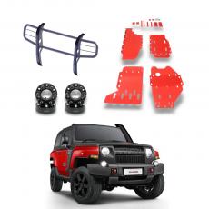 Imagem - Kit Para Novo Troller Versão Trilha Com Protetor Vermelho cód: KIT.018.370.VM