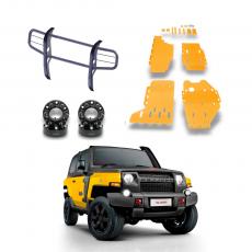 Imagem - Kit Para Troller Espaçador + Quebra Mato + Protetor Amarelo cód: KIT.016.370.AM