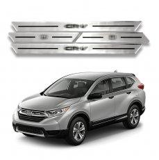 Imagem - Kit Soleiras Resinadas Aço Escovado Honda CRV cód: SLR.69.162.PR