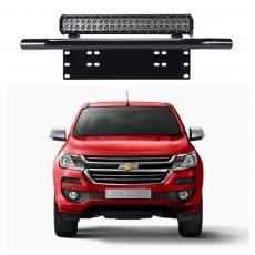 Imagem - Suporte para Farol Placa Frontal Tubular Chevrolet S10 cód: SPT.301.PT