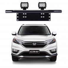 Imagem - Suporte para Farol Placa Frontal Tubular Honda CRV cód: SPT.301.PT
