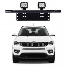 Imagem - Suporte para Farol Placa Frontal Tubular Jeep Compass cód: SPT.301.PT