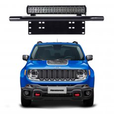 Imagem - Suporte para Farol Placa Frontal Tubular Jeep Renegade cód: SPT.301.PT