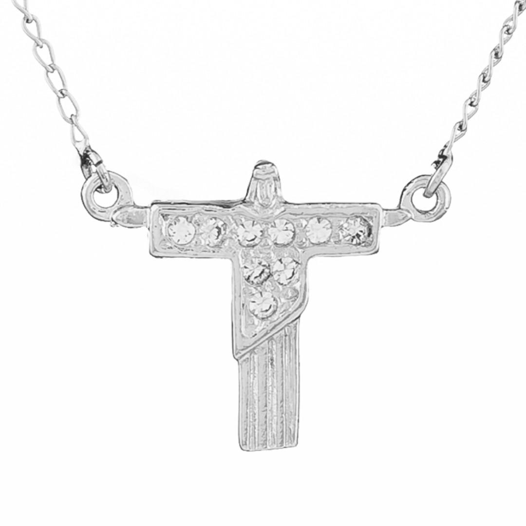 Imagem - Gargantilha Cristo com Strass 20mm - Sunshine Cristais cód: 5638-R