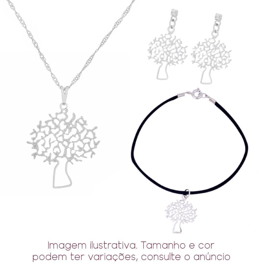Imagem - 3 Peças! Colar + Pulseira + Brinco Árvore | Sunshine cód: 8557R
