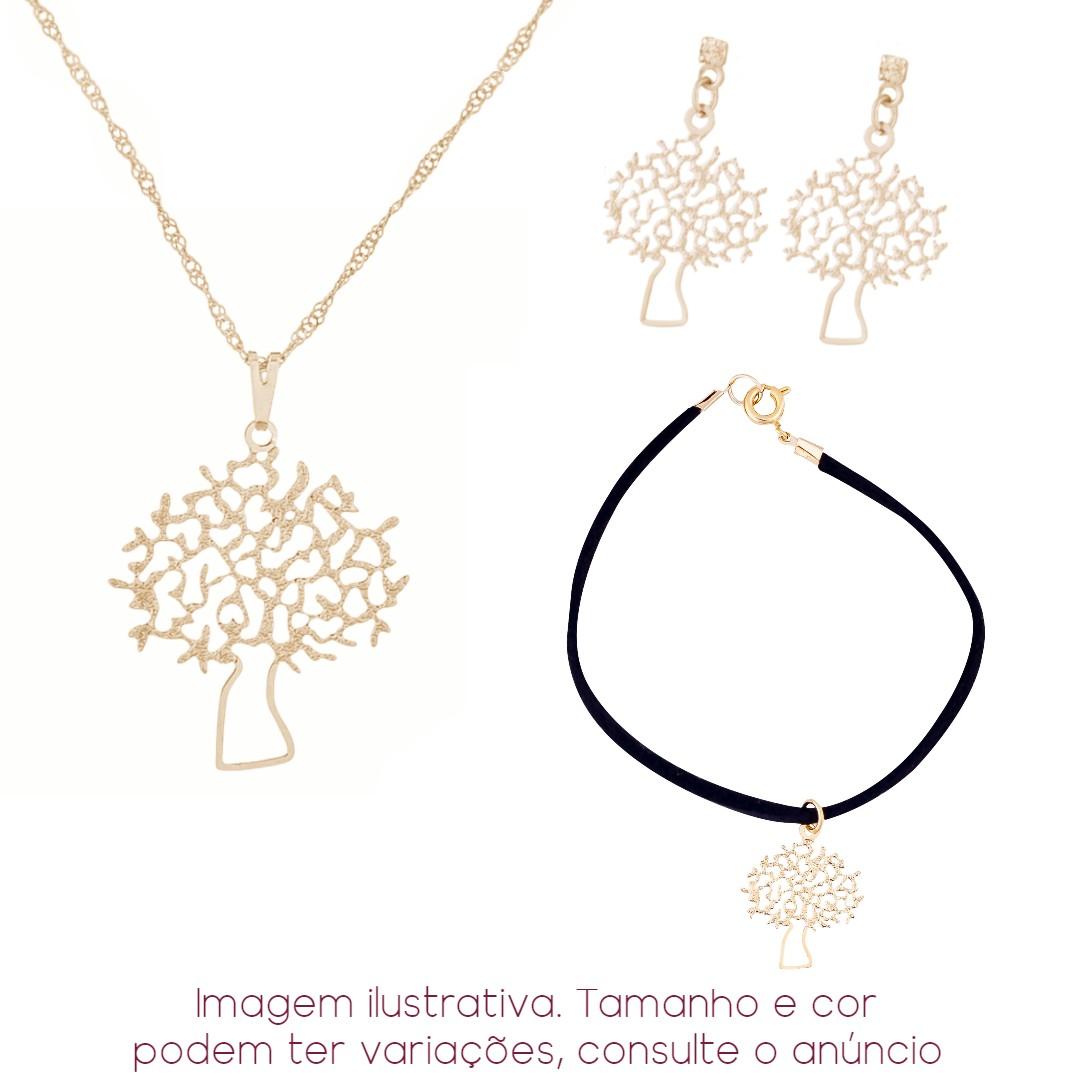 Imagem - 3 Peças! Colar + Pulseira + Brinco Árvore | Sunshine cód: 8557O