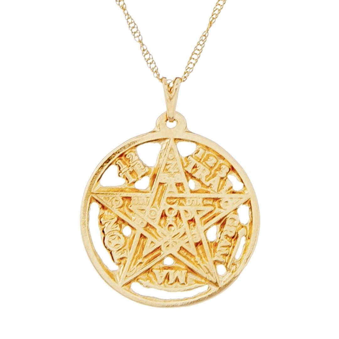 Imagem - Gargantilha Tetragrammaton 27mm - Sunshine Cristais cód: 5644O