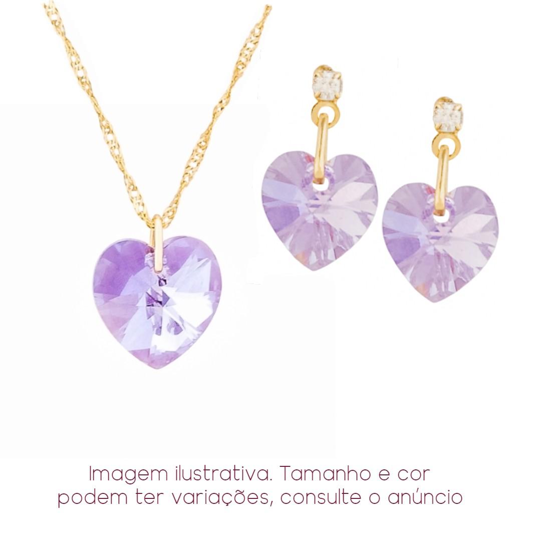 Imagem - Conjunto Coração Violet AB Swarovski 10mm+10mm | Sunshine cód: 8510O