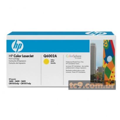 Cartucho de Toner HP Color LaserJet 1600 | 2600 | Q6002A | Amarelo | Original