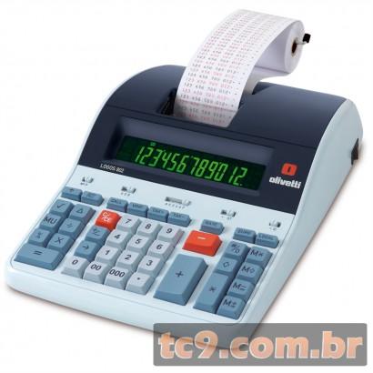 Calculadora Olivetti Logos 802B | Calculadora de Mesa Profissional com Impressão