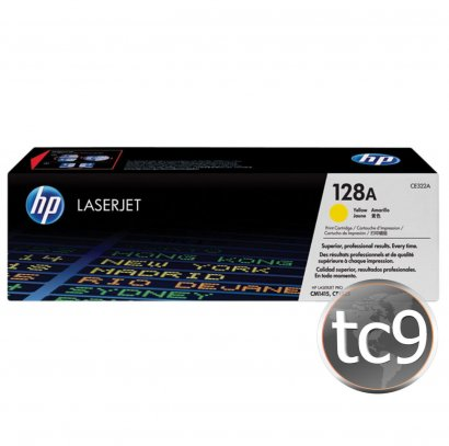 Cartucho de Toner HP LaserJet CP1525 | CP1525NW | CM1415 | CM1415FNW | CE322A | 322A | 128A | Amarelo | Original