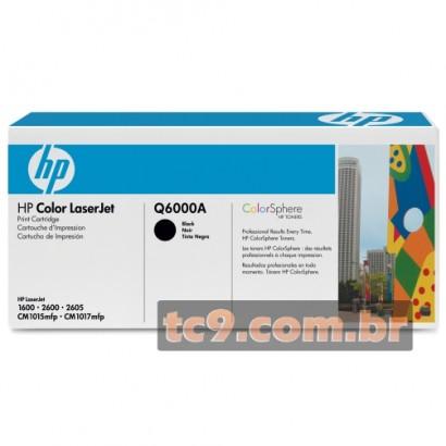 Cartucho de Toner HP Q6000A | Preto | Original