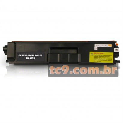 Cartucho Toner Brother HL-4150 | HL-4570 | MFC-9460 | MFC-9560 | MFC-9970 | TN-315 | TN-315BK | TN315BK | Compatível