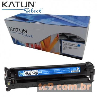 Cartucho Toner HP LaserJet CP1525 | CP1525NW | CM1415 | CM1415FNW | CE321A | 321A | 128A | Ciano | Katun