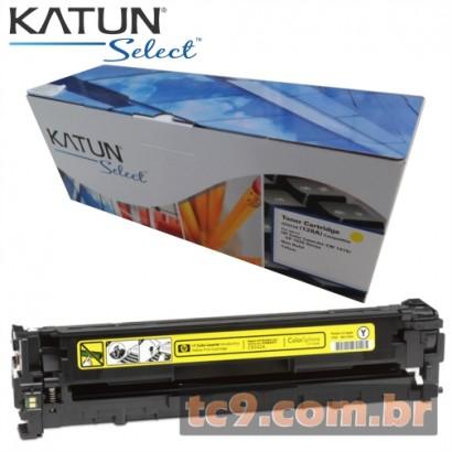 Cartucho Toner HP LaserJet CP1525 | CP1525NW | CM1415 | CM1415FNW | CE322A | 322A | 128A | Amarelo | Katun Select