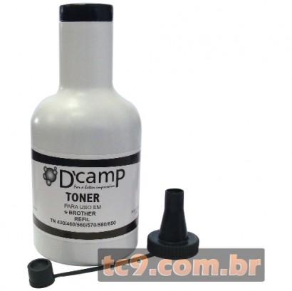 Refil de Toner Brother DCP-8060 | DCP-8065 | DCP-8070 | DCP-8080 | DCP-8085 | MFC-8890 | HL-5350 | TN-580 | TN-650 | TN580 | TN650 | 200g | DCamp