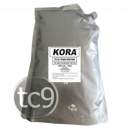 Refil de Toner Brother TN-350 | TN-360 | TN-560 | TN-580 | TN-550 | TN-650 | TN-620 | 1Kg | Kora | Compatível