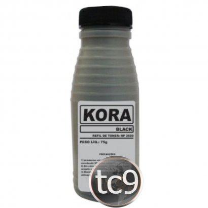 Refil de Toner HP Color LaserJet 2600 | Q6000A | Preto | Kora