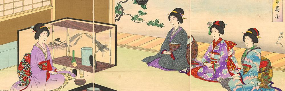 A cerimônia do chá japonês
