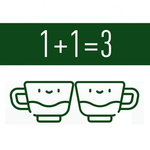 1+1=3 - Chá Vermelho Pu Erh Original + Chá Verde Moruno