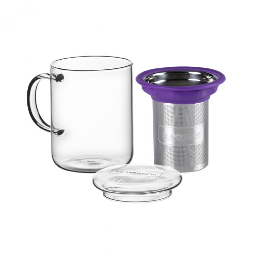 CANECA DE VIDRO MUG ALL IN ONE MUG PURPLE - TEA SHOP