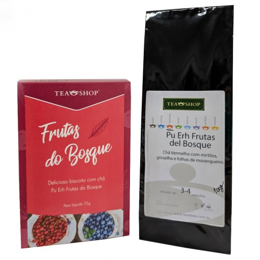 Biscoitos com chá- Frutas do Bosque + 100g do Chá