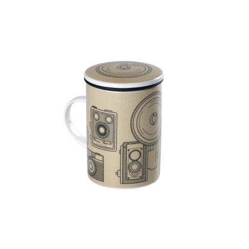 Caneca de Porcelana Mug Classic Hipster Tea - Tea Shop