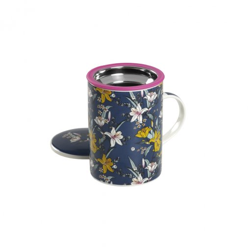 Caneca de Porcelana Mug Classic Japan Flower Blue - Tea Shop